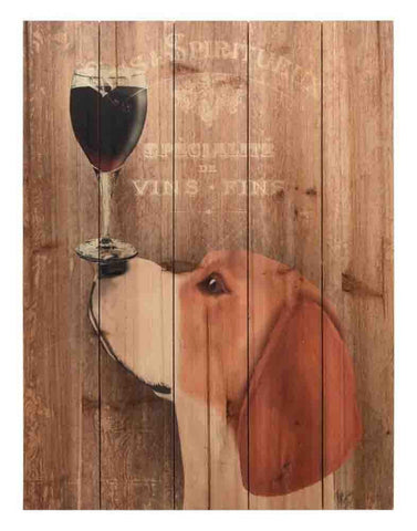 Dog Au Vin Beagle ~ Solid Fir Wood Planks - Cece & Me - Home and Gifts