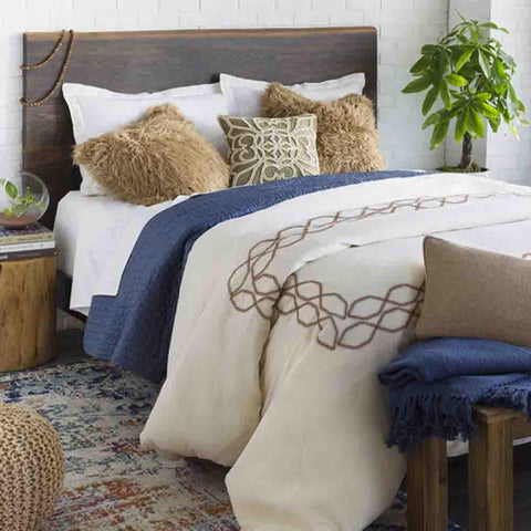 Image of Bala Bedding ~ Cream & Tan - Cece & Me - Home and Gifts
