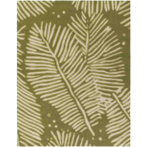 Image of Artisan Outdoor Rug ~  Olive & Cream - Cece & Me - Home and Gifts
