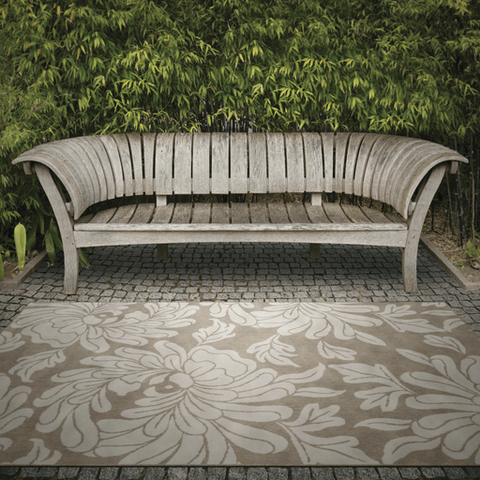 Image of Abbatt Outdoor Rug ~ Camel & Cream - Cece & Me - Home and Gifts