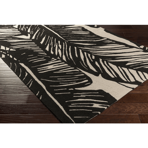 Abry Rug ~ Black & Beige - Cece & Me - Home and Gifts