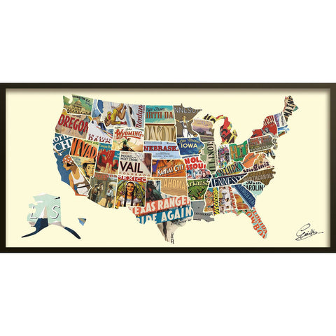 Across America ~ Art Collage - Cece & Me - Home and Gifts