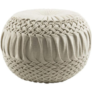 Alana Pouf ~ Cream - Cece & Me - Home and Gifts
