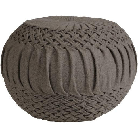 Alana Pouf ~ Medium Gray - Cece & Me - Home and Gifts