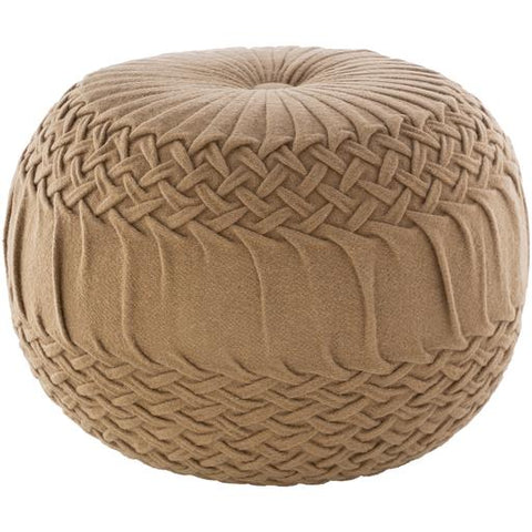 Alana Pouf ~ Tan - Cece & Me - Home and Gifts