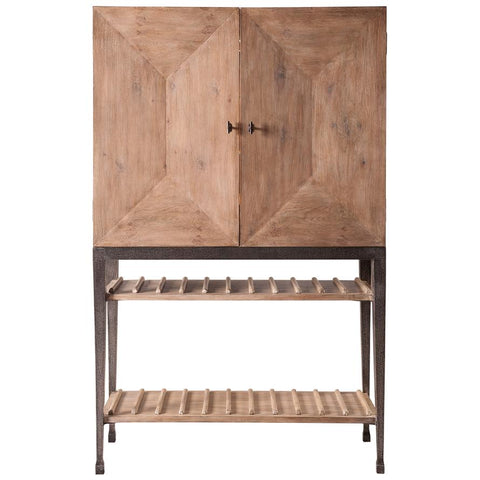 Image of Aldrich Cabinet W/Wine Storage - Cece & Me - Home and Gifts