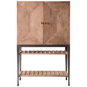 Aldrich Cabinet W/Wine Storage - Cece & Me - Home and Gifts