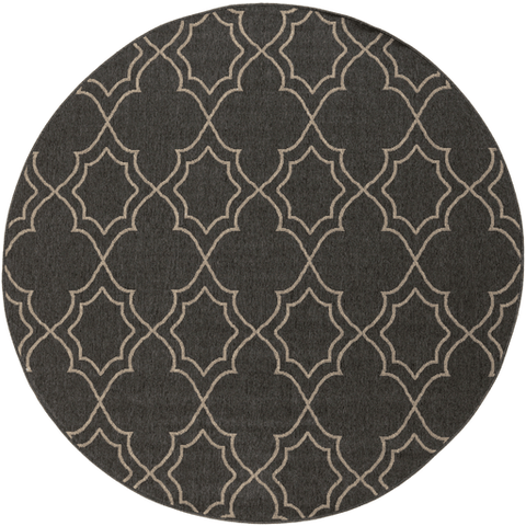 Image of Alfresco Outdoor Rug II ~ Black & Cream - Cece & Me - Home and Gifts