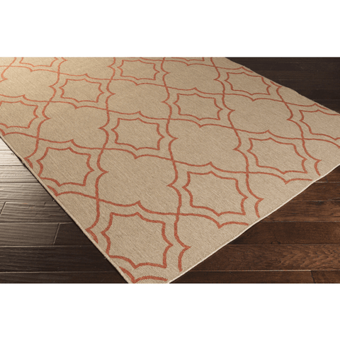 Image of Alfresco Outdoor Rug II ~ Camel & Rust - Cece & Me - Home and Gifts