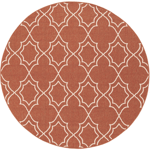 Image of Alfresco Outdoor Rug II ~ Rust & Cream - Cece & Me - Home and Gifts
