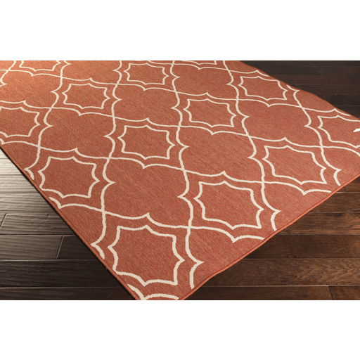 Alfresco Outdoor Rug II ~ Rust & Cream - Cece & Me - Home and Gifts