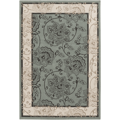 Alfresco Outdoor Rug III ~ Sage/Cream/Black/Camel - Cece & Me - Home and Gifts