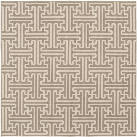Image of Alfresco Outdoor Rug IV ~ Camel & Cream - Cece & Me - Home and Gifts