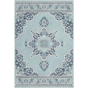 New Alfresco Outdoor Rug ~ Aqua/Teal/Charcoal - Cece & Me - Home and Gifts