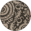 Alger Outdoor Rug ~ Black & Camel - Cece & Me - Home and Gifts