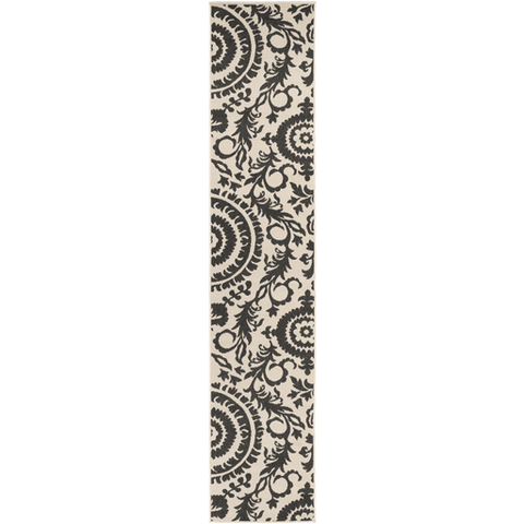 Image of Alger Outdoor Rug ~ Black & Cream - Cece & Me - Home and Gifts