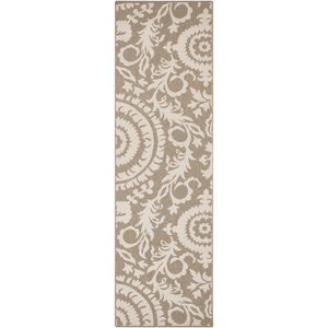 Alger Outdoor Rug ~ Camel & Cream - Cece & Me - Home and Gifts