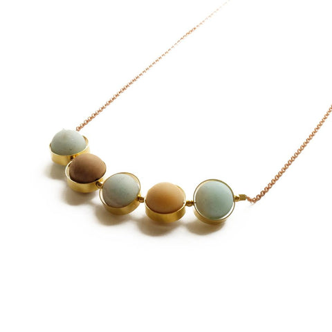 "Image of Alignment Necklace ~ Amazonite 30"" - Cece & Me - Home and Gifts"