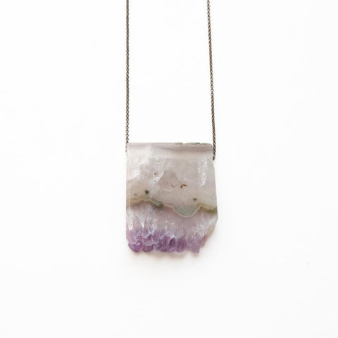 Amethyst Geode Necklace - Cece & Me - Home and Gifts
