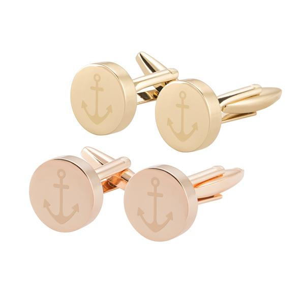 Anchor Round Cuff Links - Cece & Me - Home and Gifts