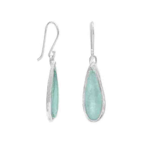 Image of Ancient Roman Glass Pear Drop Earrings - Cece & Me - Home and Gifts