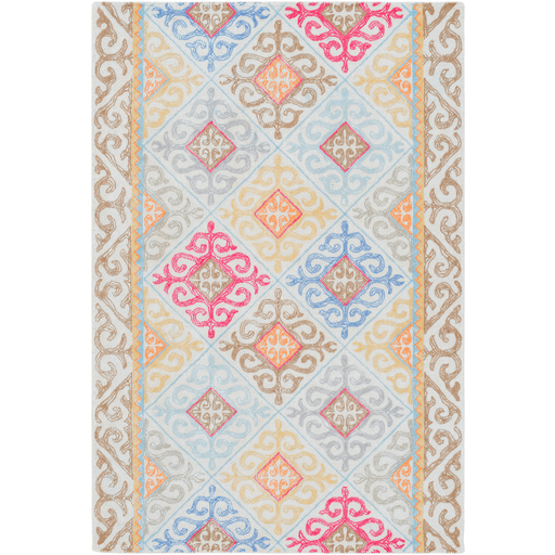 Antigua Rug ~ Bright Pink/Mint/Bright Blue - Cece & Me - Home and Gifts