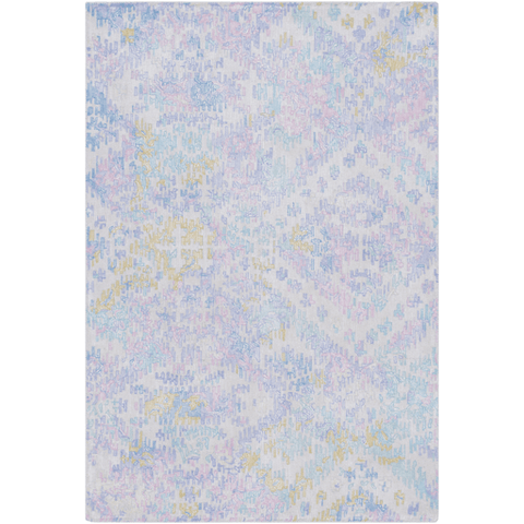 Antigua Rug ~ Denim/Bright Blue/Lilac - Cece & Me - Home and Gifts