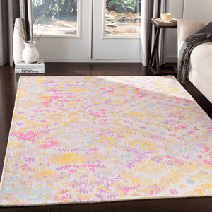 Antigua Rug ~ Lilac/Bright Pink/Beige