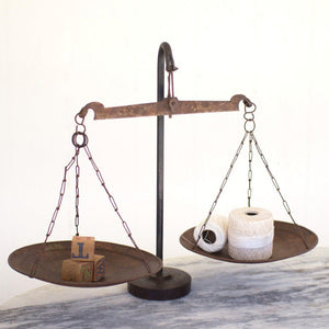 Antique Metal Scale w/weighted Iron Base - Cece & Me - Home and Gifts