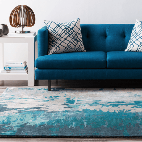 Image of Antonis Rug ~ Teal - Cece & Me - Home and Gifts