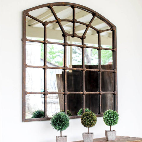 Image of Arched Iron Mirror - Cece & Me - Home and Gifts