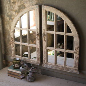Arched Windows Mirrors (Set of 2) - Cece & Me - Home and Gifts