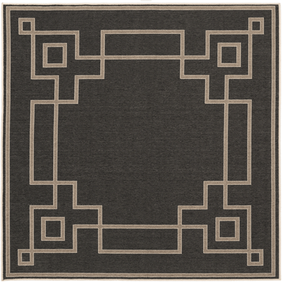 Ardy Outdoor Rug ~ Black/Camel/Cream - Cece & Me - Home and Gifts