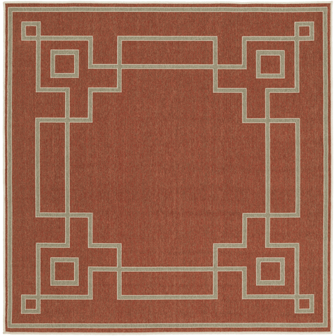 Image of Ardy Outdoor Rug ~ Rust/Camel/Cream - Cece & Me - Home and Gifts