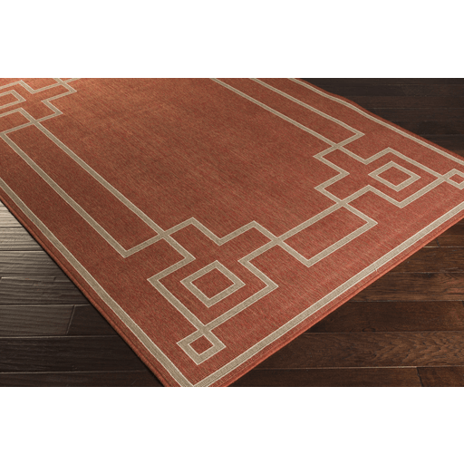Ardy Outdoor Rug ~ Rust/Camel/Cream - Cece & Me - Home and Gifts