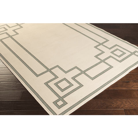 Ardy Outdoor Rug ~ Sage/Cream/Black - Cece & Me - Home and Gifts