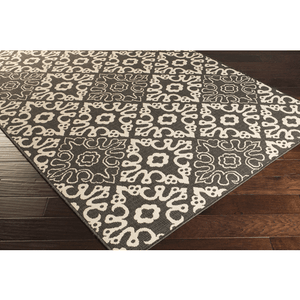 Areles Outdoor Rug ~ Black & Cream - Cece & Me - Home and Gifts
