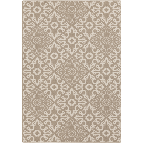 Image of Areles Outdoor Rug ~ Camel & Cream - Cece & Me - Home and Gifts