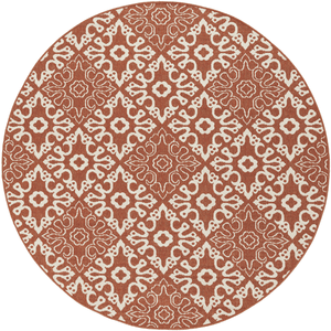 Areles Outdoor Rug ~ Rust & Cream - Cece & Me - Home and Gifts