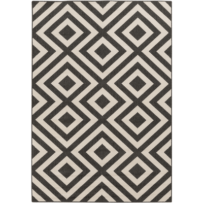 Arentst Outdoor Rug ~ Black & Cream - Cece & Me - Home and Gifts