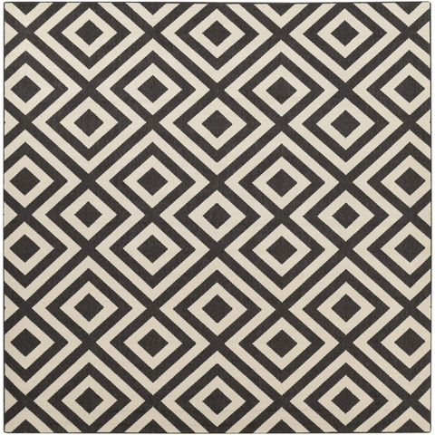 Image of Arentst Outdoor Rug ~ Black & Cream - Cece & Me - Home and Gifts