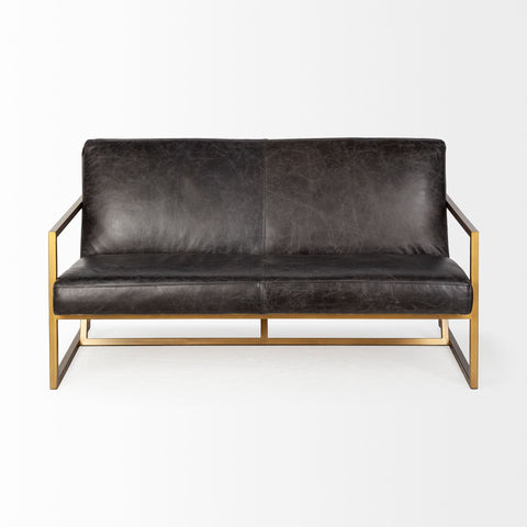 Armelle Leather Sofa - Cece & Me - Home and Gifts