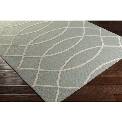 Image of Arnson Rug ~ Teal & Beige - Cece & Me - Home and Gifts