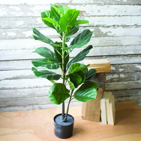 Artificial Fiddle Leaf Fig In A Pot - Cece & Me - Home and Gifts