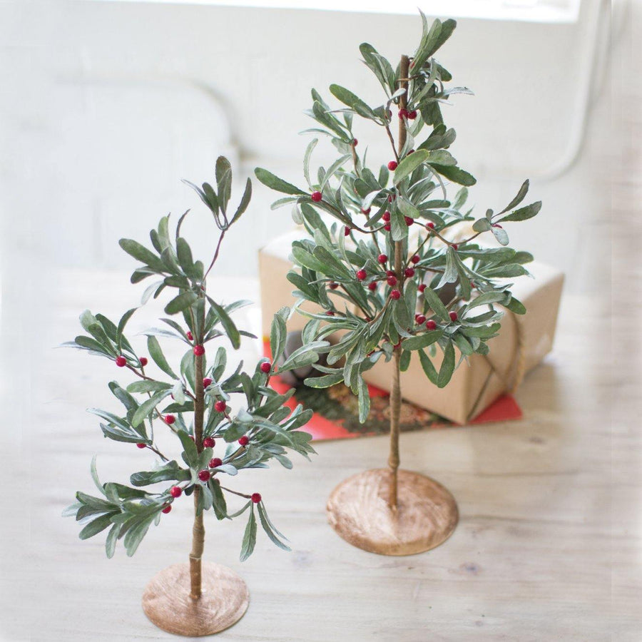 Artificial Mistletoe Trees (Set of 2)