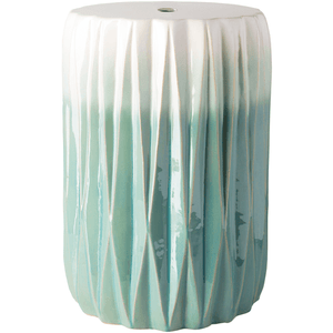 Aynor Stool ~ Aqua & White - Cece & Me - Home and Gifts