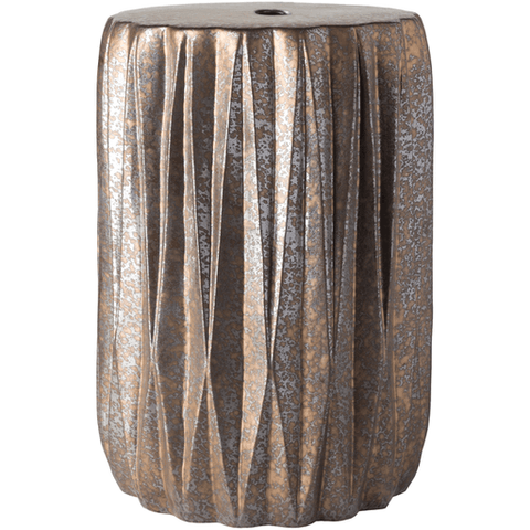 Image of Aynor Stool ~ Dark Brown/Silver/Metallic/Gold - Cece & Me - Home and Gifts
