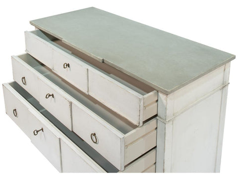 Azzalene Dresser Wht/Wht Gray Quartz - Cece & Me - Home and Gifts