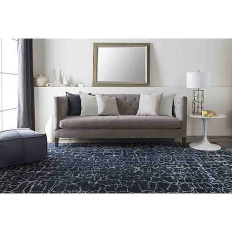 Image of Banshee Rug ~ Navy/Denim - Cece & Me - Home and Gifts
