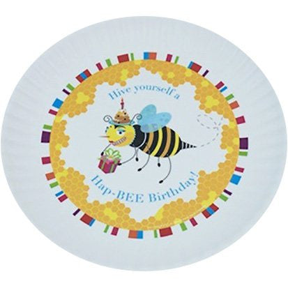 Image of Fun Birthday Melamine Plates ~ Hap-BEE Birthday - Cece & Me - Home and Gifts